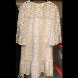 Kate spade embroidered lined white dress 4
